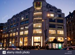 paris france art deco office building and lvmh store on avenue champs elysees art deco office