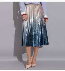 <b>Gradient Skirt</b> Pleated Long <b>Skirt</b> Woman <b>Elegant</b> High Waist A-Line ...