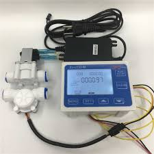 fs400a g1 dn25 water flow controller lcd display sensor meter counter indicator flow device solenoid valve gauge