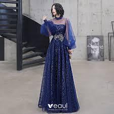 Classy <b>Royal Blue</b> Evening Dresses 2020 A-Line / Princess High ...