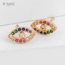 <b>Romad</b> Trendy <b>Gold</b> Hoops Earrings Round Circle Geometric ...