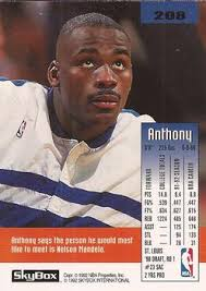 1992-93 SkyBox #208 Anthony Bonner Back - 2108-670128Bk