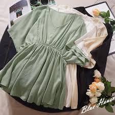 2019 Elegant <b>Thin Chiffon Shirt</b> Woman V Neck Flare <b>Short</b> Sleeve ...