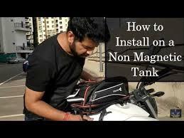How to Install <b>Tank</b> Bag on Non <b>Magnetic Tank Bikes</b> | Installation ...