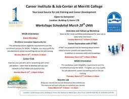 building your resume while in college cipanewsletter news archives merritt college merritt college