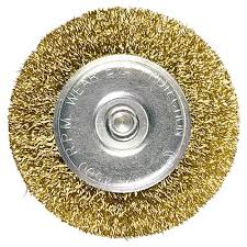 <b>Щетка для дрели</b>, 50 мм, <b>плоская</b> со шпилькой, латунированная ...