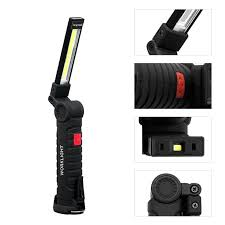 Multi-functional <b>Portable COB</b> Work Lights Torch <b>Folding Emergency</b> ...
