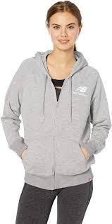New Balance Women's <b>Essentials Fz Hoodie</b> Jacket: Amazon.co.uk ...