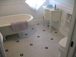 oiseau black hexagon bathroom floor