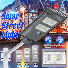 120W/160W <b>360LED Solar</b> Street <b>Light</b> PIR Motion Sensor Outdoor ...