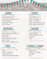 find your favorite printable cleaning schedule my life stay at bonfires