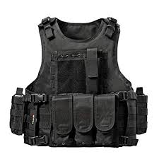 Yakeda <b>Tactical Military Combat</b> Duty Enforcement <b>Molle Vest</b> For ...