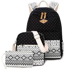 Goldwheat Canvas <b>School</b> Backpack Casual <b>Laptop Bag</b> Shoulder ...