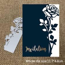 <b>Metal cutting dies cut die</b> mold <b>new</b> rose edge card Scrapbook ...