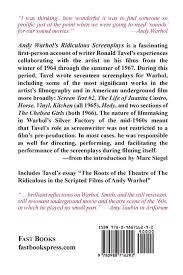 andy warhol s ridiculous screenplays ronald tavel  andy warhol s ridiculous screenplays ronald tavel 9780988716292 com books