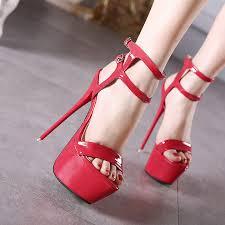 2019 Extreme <b>High</b> Heel Sandals <b>Fashion Womens</b> Shoes Peep toe ...