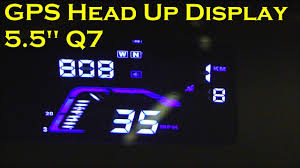 "GPS Car Head Up Display 5.5"" (HUD) - Model Q7 - YouTube"