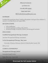 how to write a perfect occupational therapist resume occupation therapist resume mikeala
