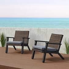 <b>Real</b> Flame Norwood <b>Black</b> Deep-Seated Aluminum Outdoor ...