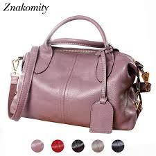 <b>Znakomity</b> Black handbag women's genuine leather <b>shoulder bag</b> ...