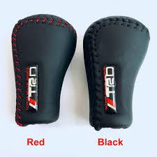 TRD Universal PU <b>Leather Gear Shift Knob</b> Gearshift Shifter Stick ...