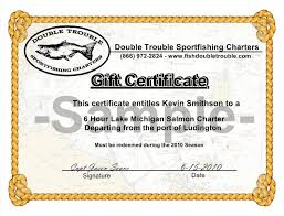 purchase personalize gift certificates for fishing charters create yours today