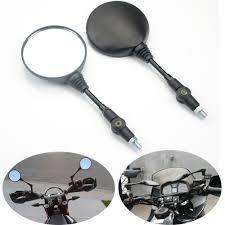 <b>2PCS</b> Black Folding Rear Mirror Round <b>Motorcycle</b> 10mm Thread ...