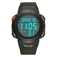 babydream1 Outdoor Sport Digital <b>Men Watch 50m Waterproof</b> ...