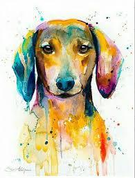 Картины собак, Тату <b>таксы</b>, Картины акварелью