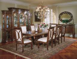 Full Dining Room Sets Mckay Rustic Solid Wood Double Pedestal Rectangular Dining Room