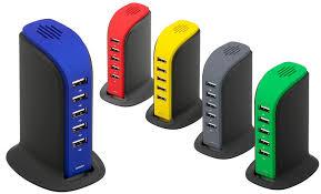 <b>Promotional</b> USB Charger Desk Top <b>5</b> Way - <b>Crazy</b> Dave <b>Promo</b>