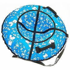 Санки надувные - <b>Тюбинг RT</b> - <b>Собачки</b> на голубом, диаметр 87 ...