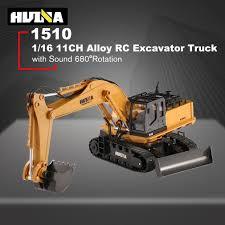 HUINA TOYS <b>RC</b> Alloy Excavator RTR 1510 1:16 2.4GHz <b>11CH</b> ...