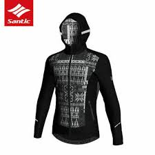 <b>Santic Mens</b> Autumn Winter Cycling Jacket Windproof Thermal ...