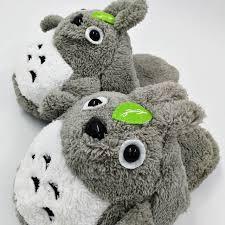 Online Shop short plush <b>home indoor</b> cartoon warm <b>dog slippers</b> ...