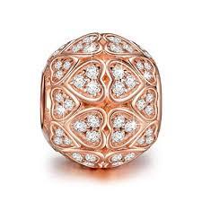 Amazon.com: NINAQUEEN <b>925 Sterling Silver</b> Love <b>Heart</b> Rose ...