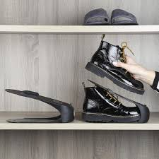 <b>Органайзер</b>-подставка для мужской <b>обуви</b>, 29 см, пластик, черный