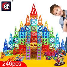 <b>BD 246pcs Blocks Magnetic</b> Designer Construction Set Model ...