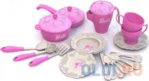 <b>Набор</b> посуды <b>Нордпласт</b> Барби, 21 предмет в сетке Н-639 639 ...