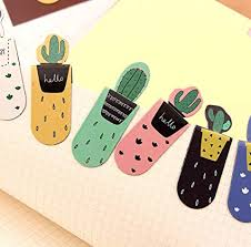 CHBC 3Pcs/Set Fresh <b>Cute Cactus Magnetic Bookmarks</b> Stationery ...