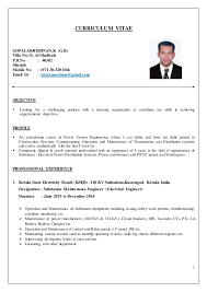electrical engineer cvelectrical engineer cv   curriculum vitae gopalakrishnan k  g k  villa no