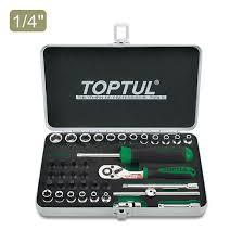 "<b>38PCS</b> 1/4"" DR. Socket <b>Set</b> - TOPTUL The Mark of Professional Tools"