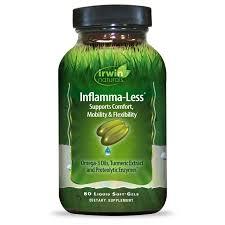 irwin naturals Inflamma-Less Dietary Supplement Liquid Soft-Gels ...
