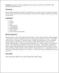 professional interior design assistant templates to showcase your    resume templates  interior design assistant
