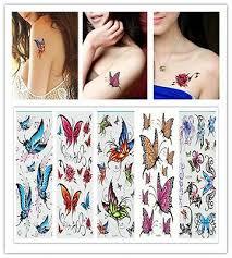 5 sheet <b>Hot Fashion Sexy butterfly</b> Body Art Waterproof Temporary ...
