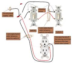 power switch 3 way switches half switched switch outlet electrical power at switch 3 way switches