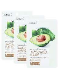 <b>Маска тканевая с экстрактом</b> авокадо, 22мл, 3 шт Eunyul ...