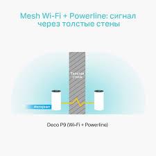 Deco P9 | AC1200 + AV1000 Домашняя гибридная <b>Mesh Wi</b>-<b>Fi</b> ...