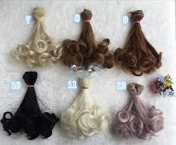 NEW Fashionable <b>10pcs</b>/<b>lot</b> Colorful Rinka Curly Doll DIY Wigs <b>For</b> ...