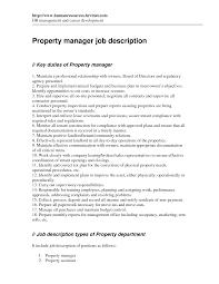 best photos of restaurant manager job description templates property manager job description
